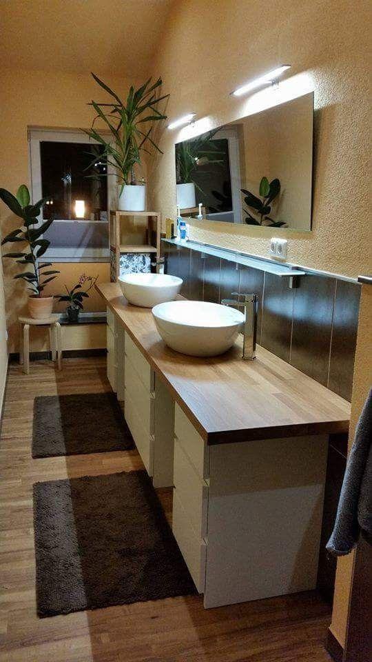 Waschtisch aus IKEA Malm Schränke Bad Pinterest - schränke für badezimmer