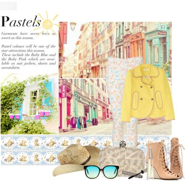 """""""pastels"""" by aniingse ❤ liked on Polyvore"""