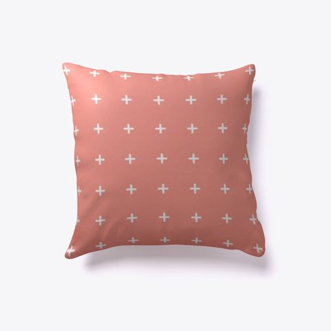 pillow dfohome aqua outdoor wave coral x
