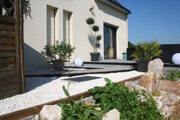 Aménagement D Une Terrasse En Bois Composite Gris Moderne