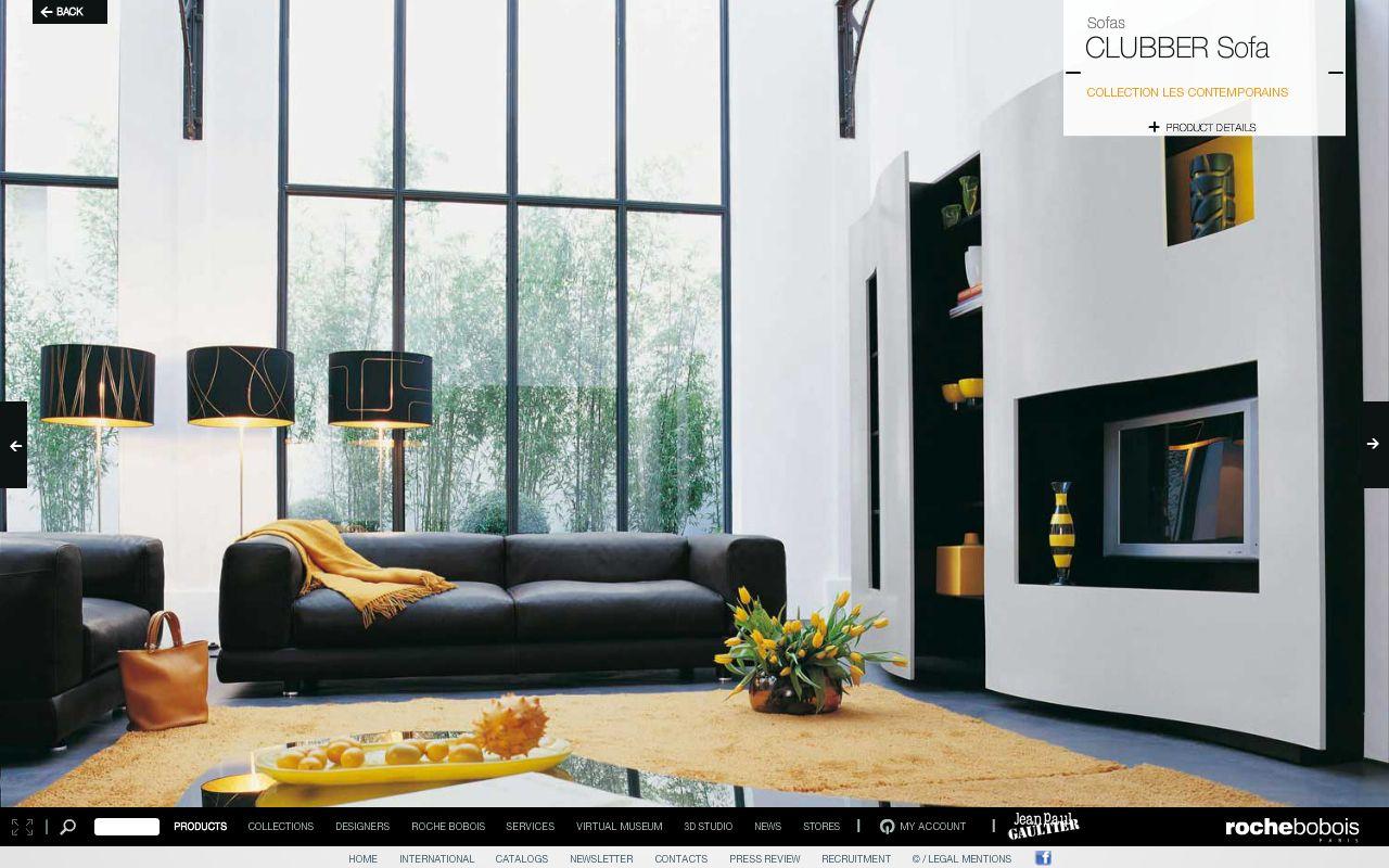 Roche Bobois Clubber Sofa Living Room Pinterest # Canape Cinema Roche Bobois