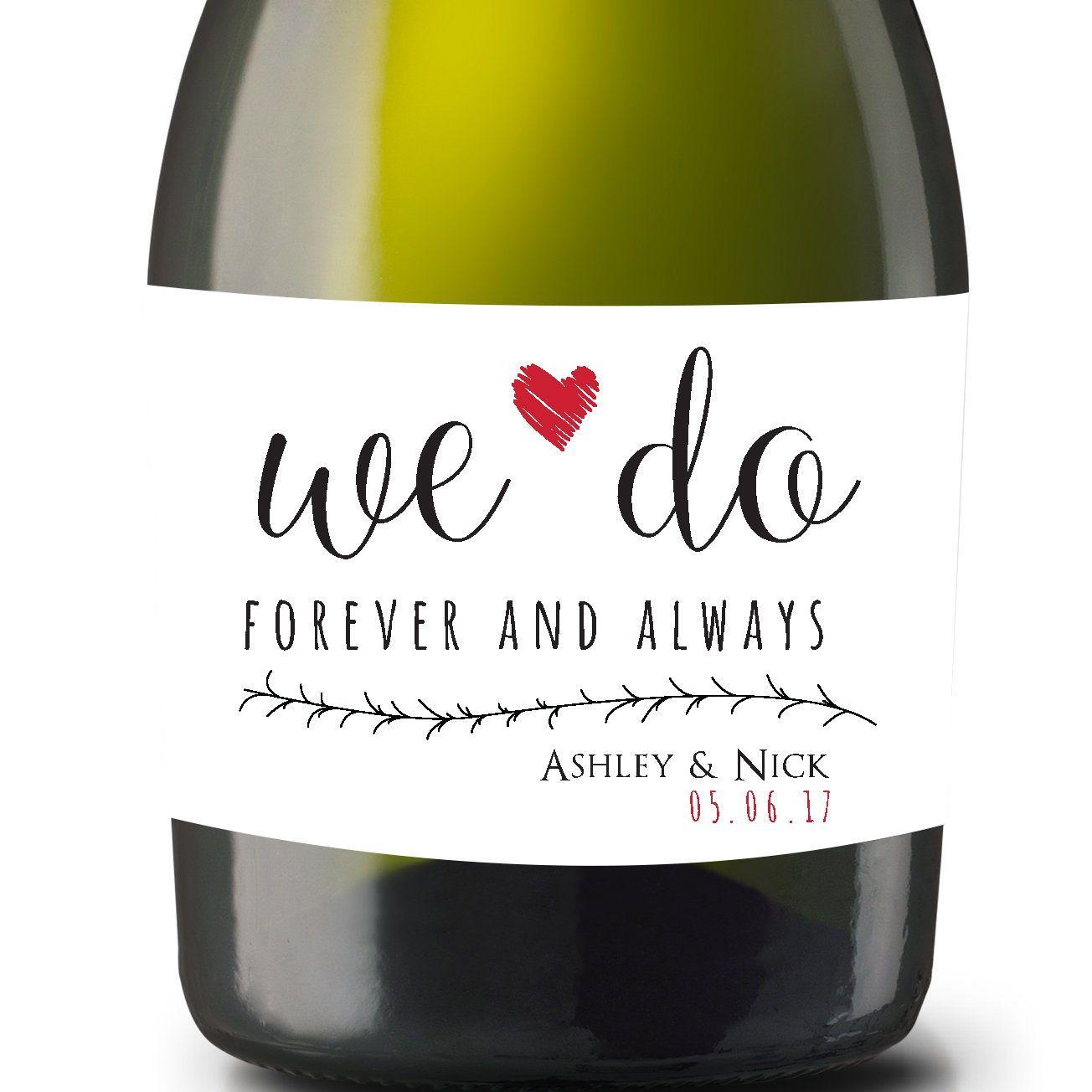 We Do, Mini Champagne Labels, Wine Bottle Label, Sets Of