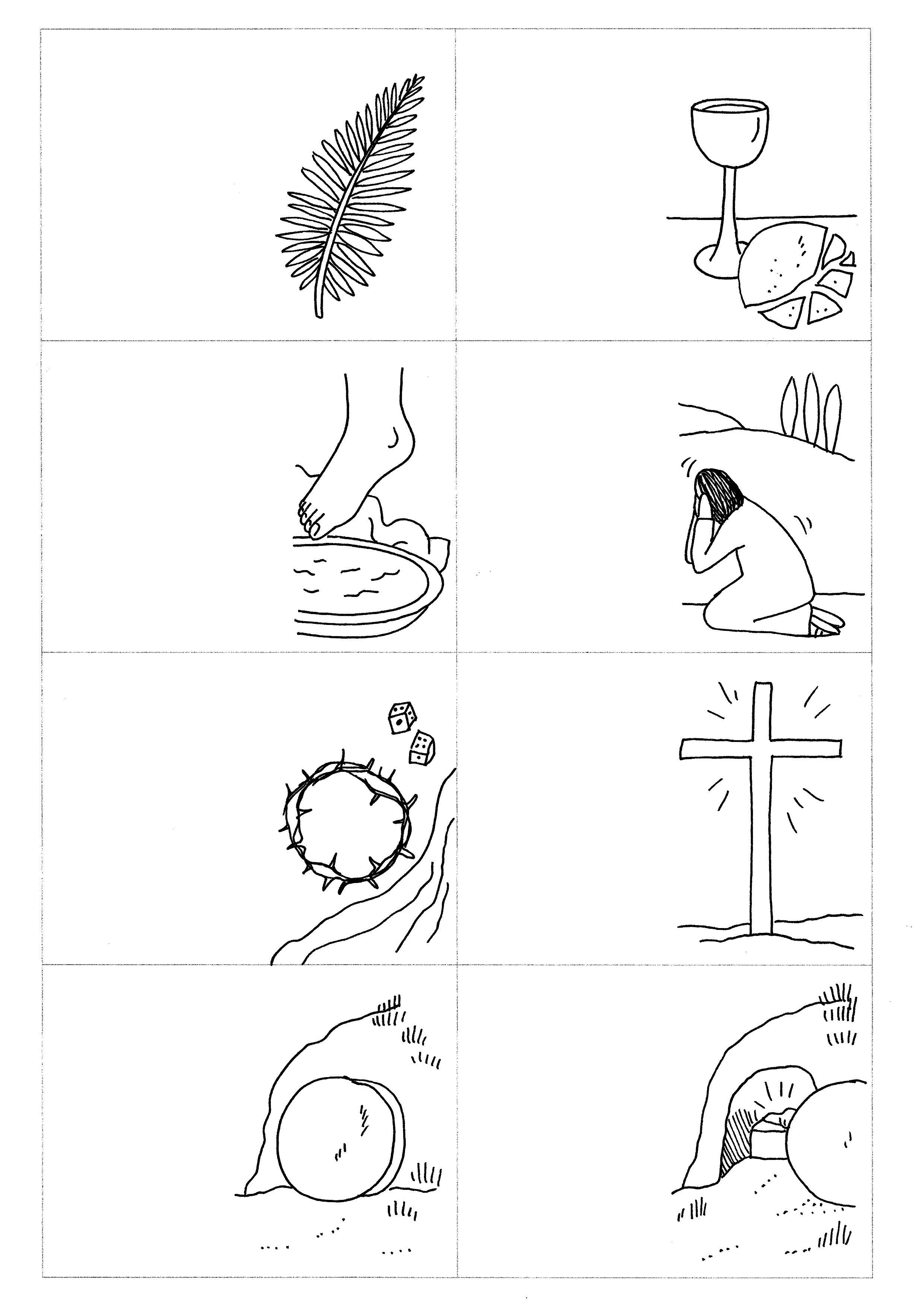 ausmalbilder ostern auferstehung  aglhk