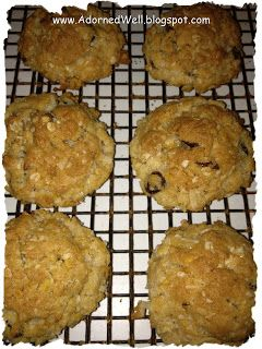 Adorned Well...a Hand Crafted Life: Raisin Crunch Cookies