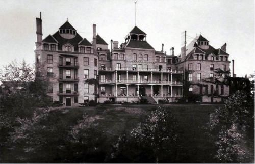 Crescent Hotel in 1886-Eureka Springs, Arkansas. - Former hospital converted into hotel - ghost seeker holiday!!  Mark will cry!!  Must go there for Halloween!!!
