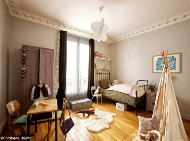 1000 images about chambres filles on pinterest purple bedrooms teen room designs and lit mezzanine - Chambre Vintage Ado Fille