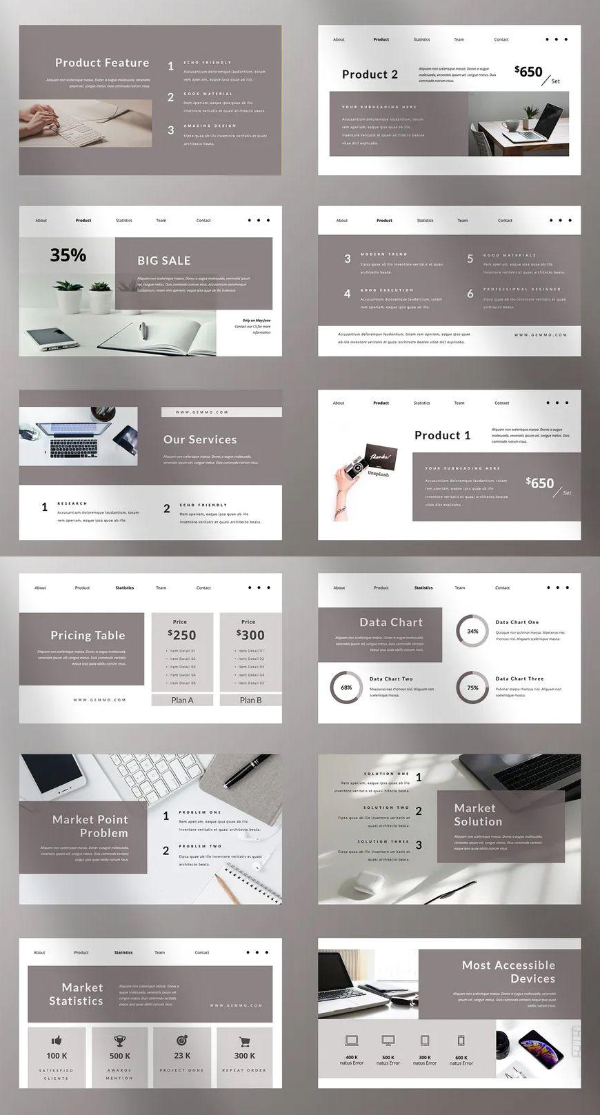 Business Powerpoint Presentation Template 40 Unique Slide Powerpoint Presentation Design Presentation Design Layout Presentation Layout