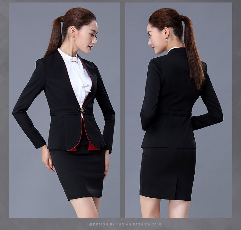 Custom new style best office uniform designs skirt suits for Office design uniform