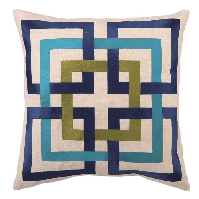 #diy this expensive trina turk pillow with grosgrain ribbon