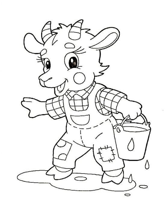 Kozel Raskraski Goats Coloring Pages Coloring Pages For Kids
