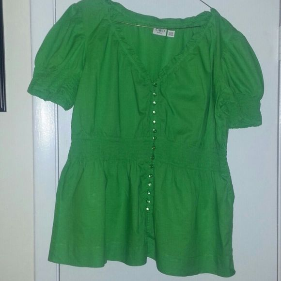 Green Shirt *clearance* Worn once/Good Condition Cato Brand Tops