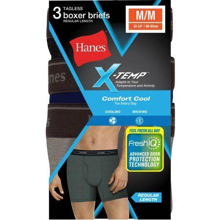 Hanes Mens 3-Pack X-Temp Boxer Briefs