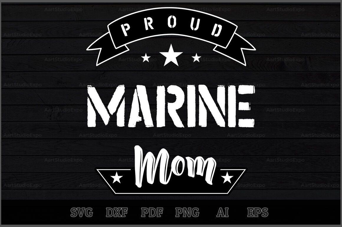 Proud Marine Mom SVG Design By Creative Art TheHungryJPEG