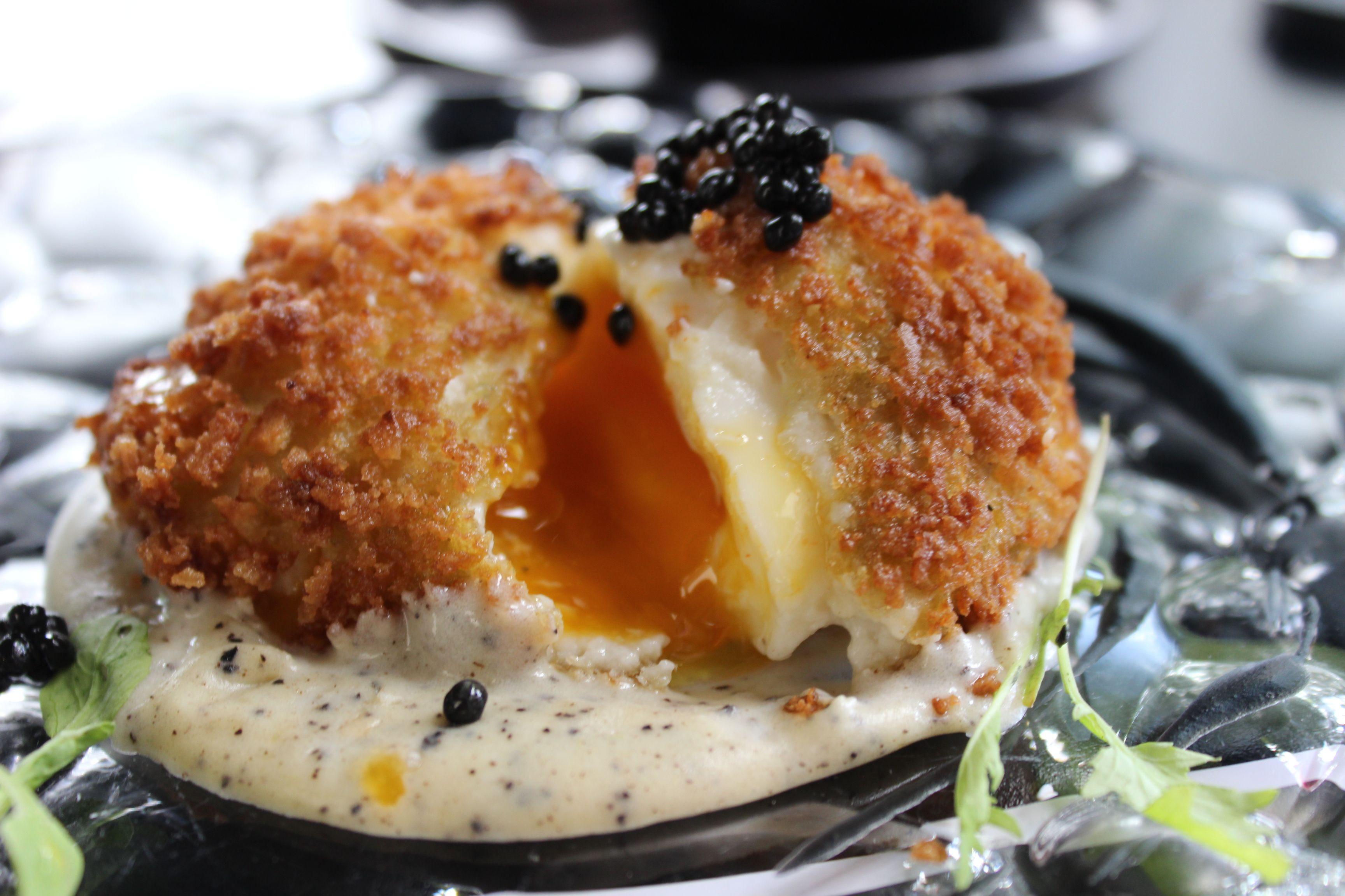 Huevo Con Bechamel Trufado Recetas Tradicionales Restaurantes Bechamel