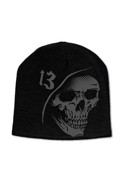 LUCKY 13 REAPER PRINTED BEANIE-Badass beanie for you badass guys or gals.  Get it here in the Tattoo d Shop www.tattoodshop.com 2dedbc09e15