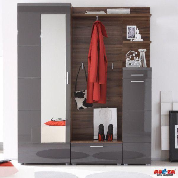 Garderobe VEGA - diese Garderobe in Weiß-Walnuss verleiht dem ...
