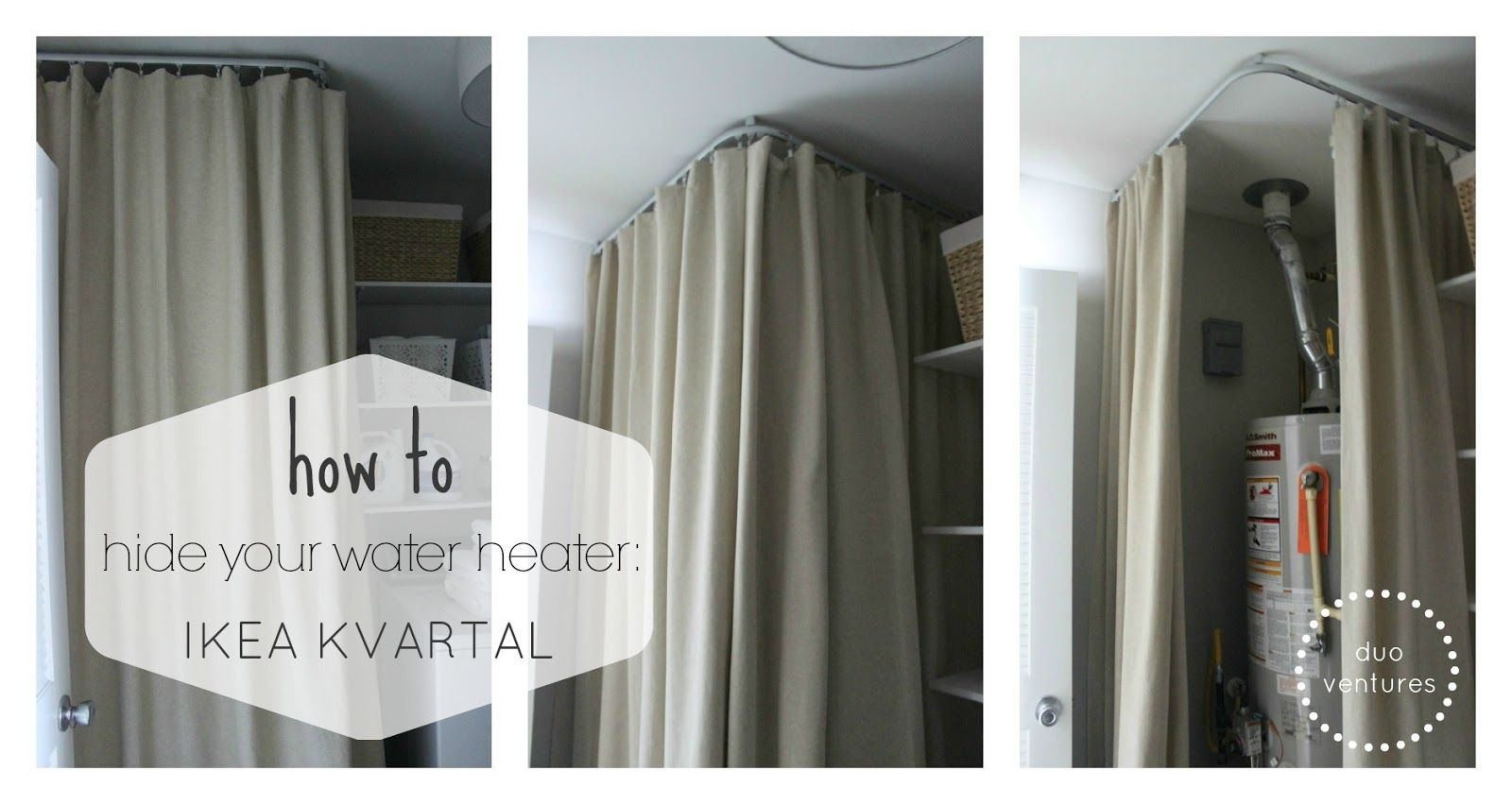 Curtain Heater How To Hide Your Water Heater Ikea Kvartal System Interesting