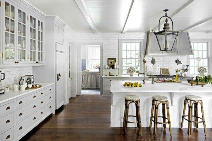 wohnideen küche weiße küchenschränke die schön zum braunen