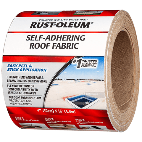 Rust Oleum Self Adhering Roof Fabric Is A Professional Grade Roofing Tape With Fleece Covering That Can Be Applied To Repair Crac Rustoleum Cleaning Wood Roof