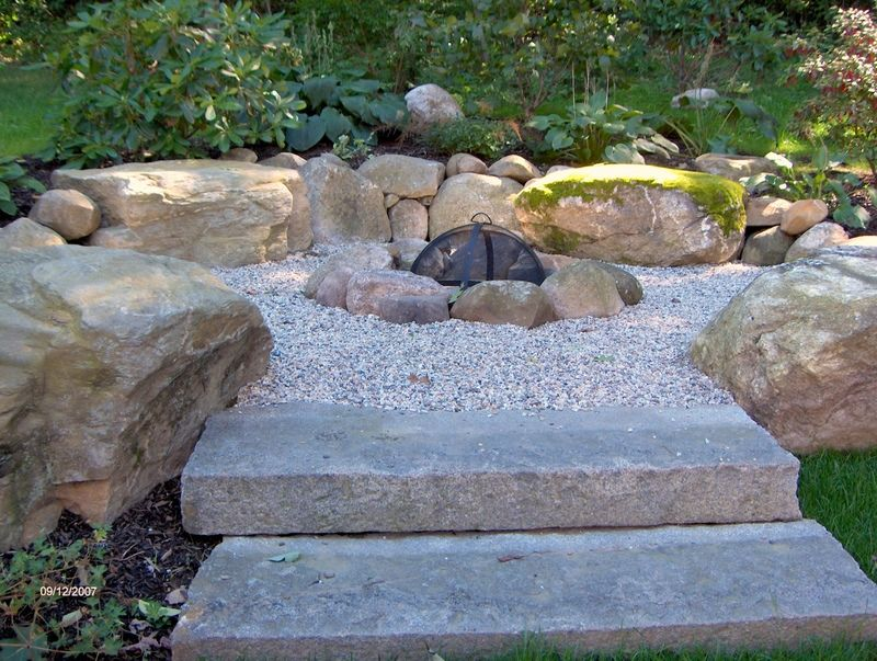 Crushed Stone Fire Pit