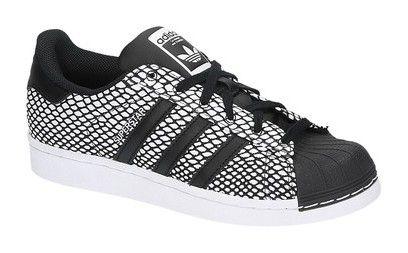 Adidas SUPERSTAR SNAKE zwarte lage sneakers