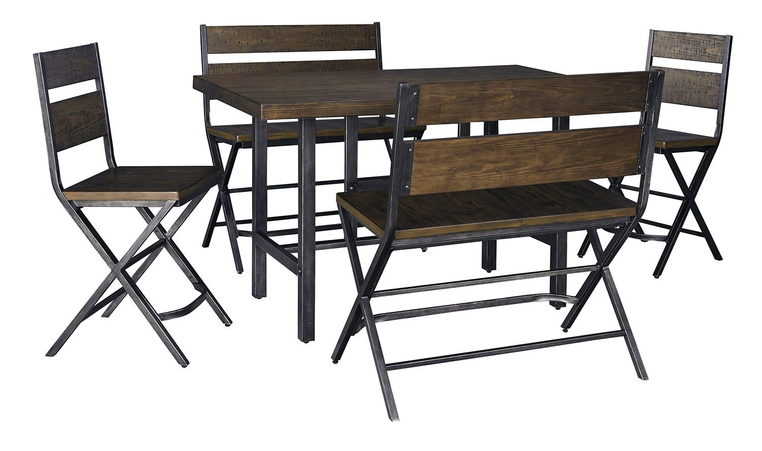 Ashley Kavara Counter Height Dining Set With Double Stool 478 00