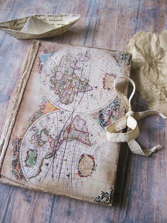 Travel journal for summer adventures vintage style travel journal travel journal for summer adventures vintage style travel journal travel diary old map gumiabroncs Gallery