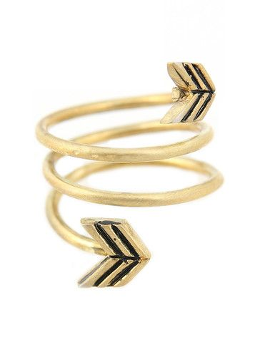 TORCHLIGHT ARROW WRAP AROUND RING BRASS