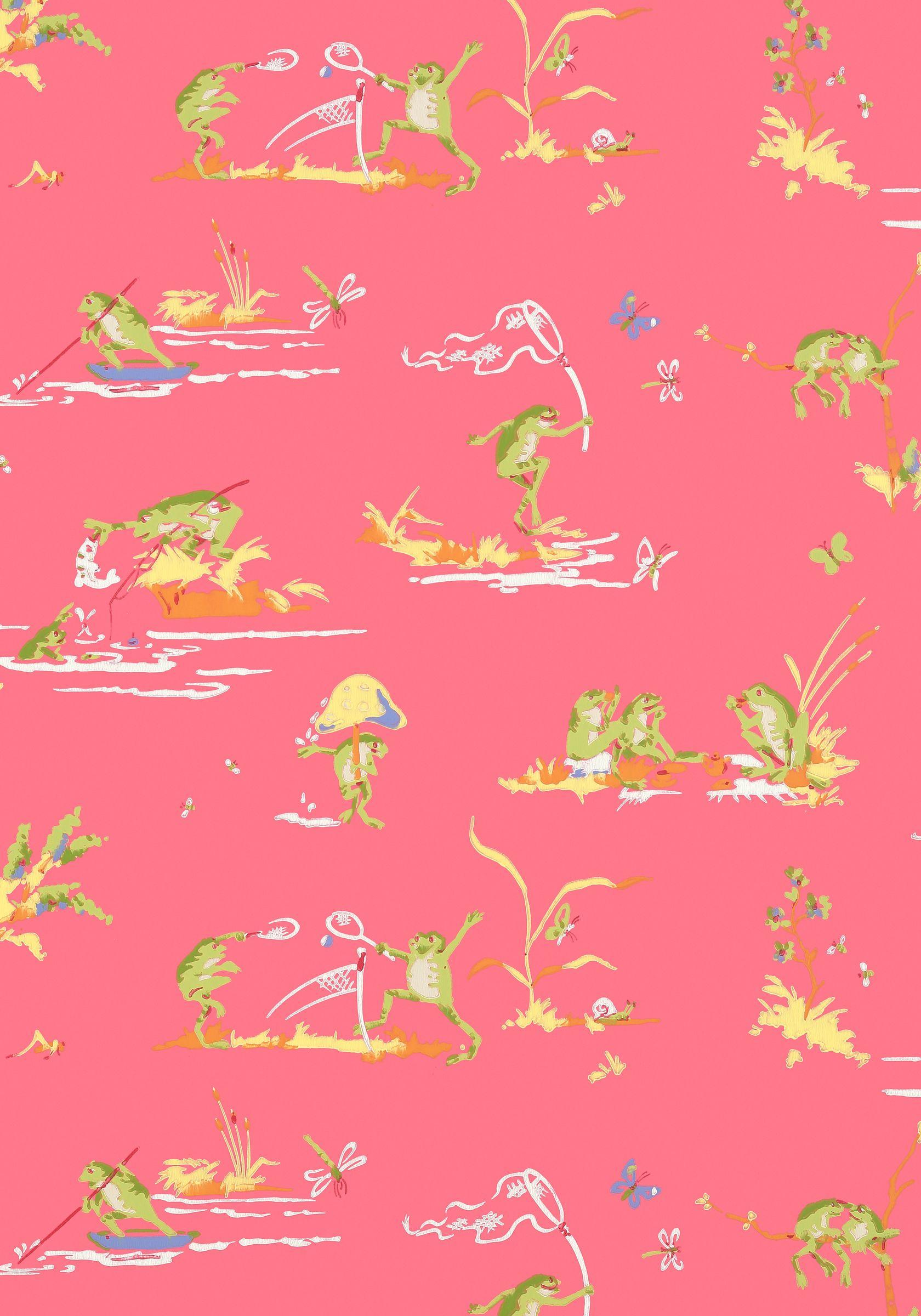 Thibaut Resort Frogs Wallpaper