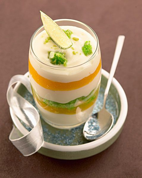 Mango and lime macaroon Tiramisu