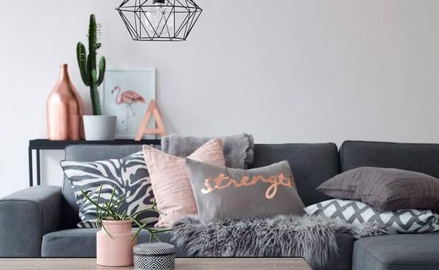 unsere liebste farbe f r home decor kupfer kupfer farben und wohnzimmer. Black Bedroom Furniture Sets. Home Design Ideas