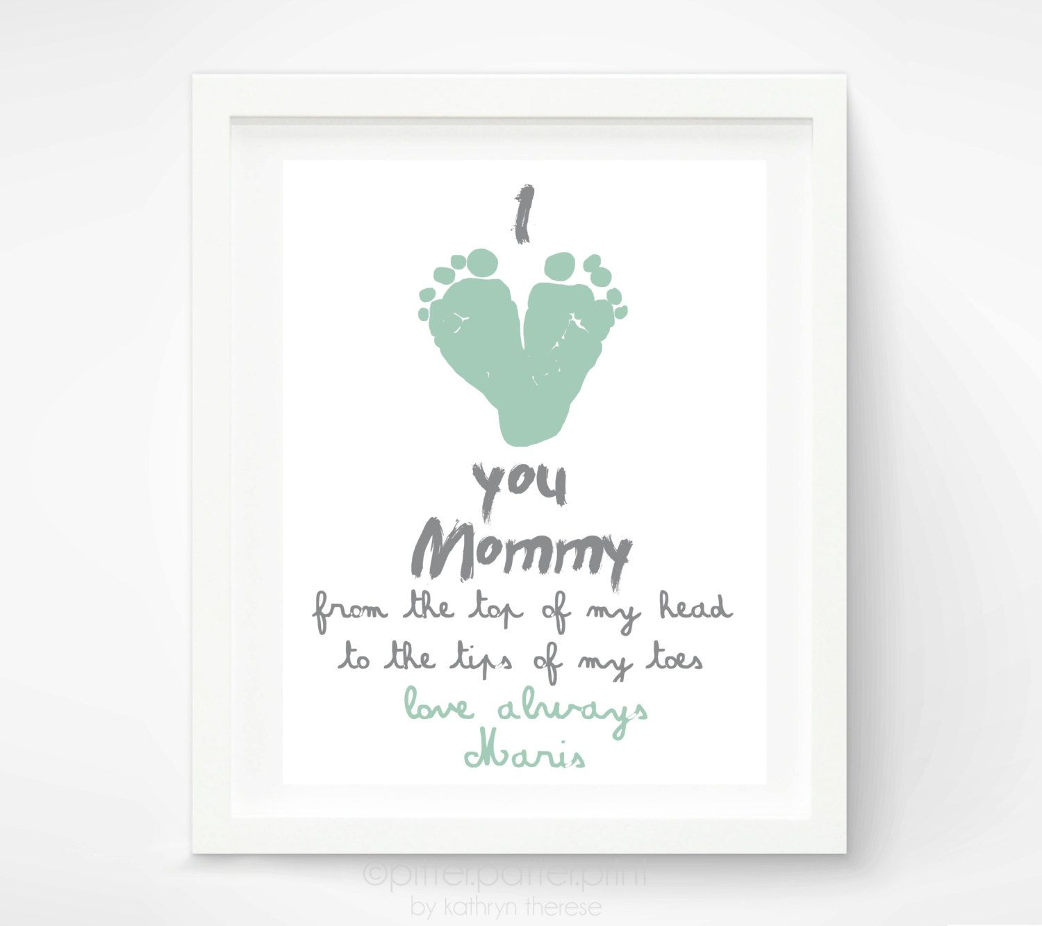 Personalized Motheru0027s Day Gift for New Mom - I Love you Mommy Baby footprint Art -Grandmother - Gift for Grandma.  sc 1 st  Pinterest & Motheru0027s Day Personalized Gift for New Mom I Love you Mommy Baby ...