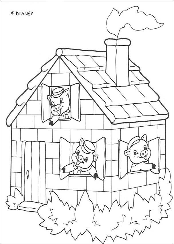 Three Little Pigs Black And White Clipart #1 | Disney ...