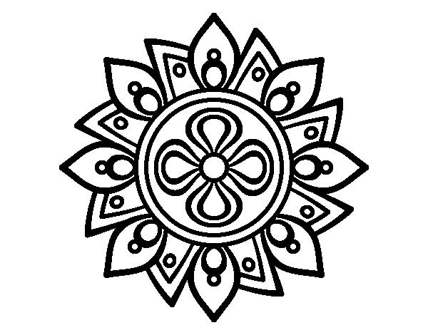 Dibujo de Mandala flor sencilla para Colorear | צביעה | Pinterest ...