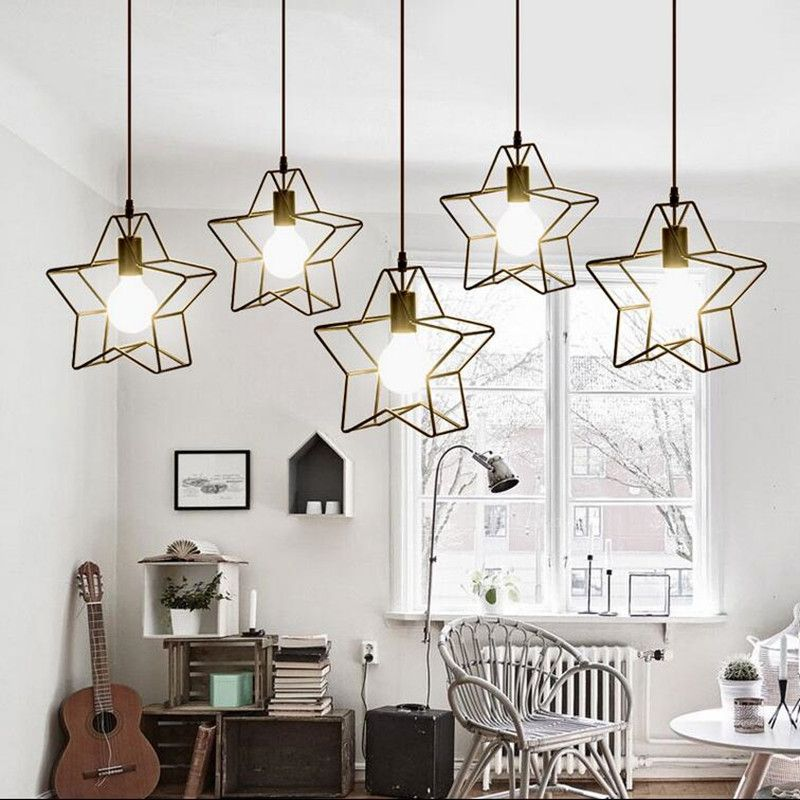 loft vintage lamp pendant light 30cm iron the stars industrial style