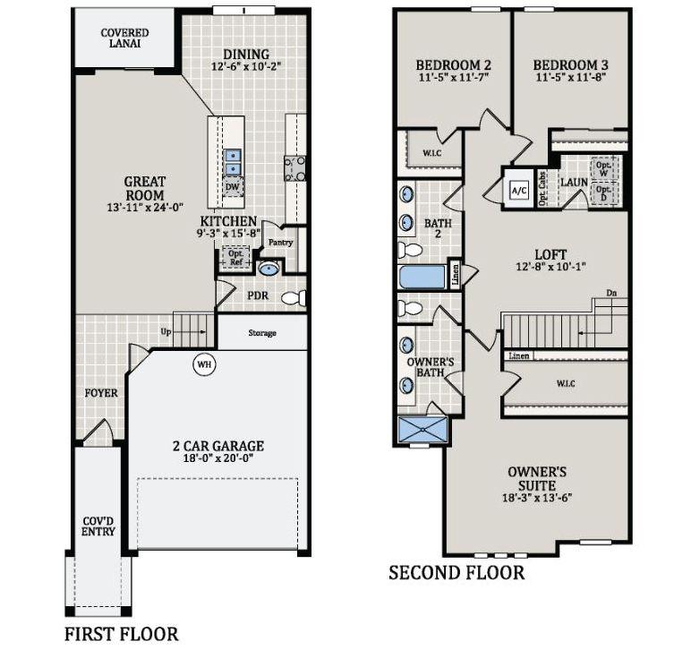 Luca Floor Plan At Bella Parc Townhomes In Kissimmee Fl Taylor Morrison Duplex Floor Plans Floor Plans Floor Plan Design