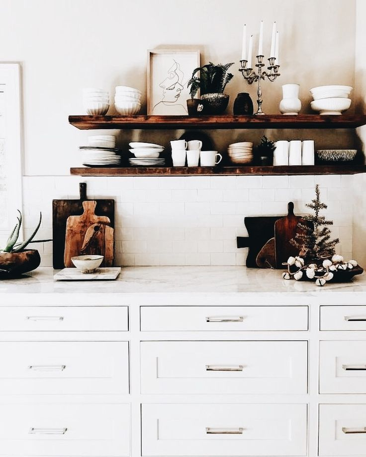 Kitchen shelving modern barn tjusigt pinterest for Modern barn kitchen