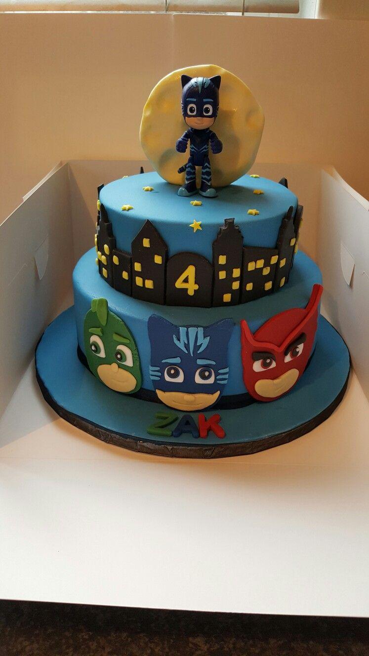Pj Masks Cake Pj Masks Birthday Pinterest Pj Mask