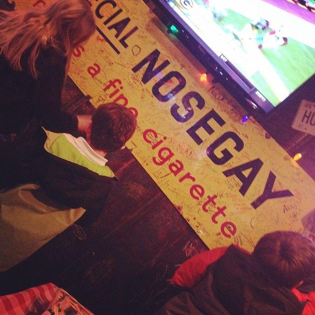 "Writing on the walls via @tabbytabs78 on IG --> ""Huey's fun:) #MemphisTradition #hueys #DietBLOWN #Burger"""