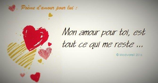 Poème Damour Pour Lui Sms Amour Poesie D Amour Et Amour