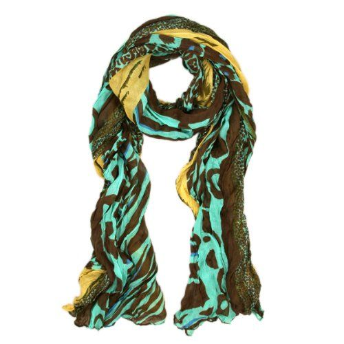 Multi Color Leopard  Zebra Mix Print Tribal Style Scarf - Different Colors Available - List price: $18.99 Price: $7.99