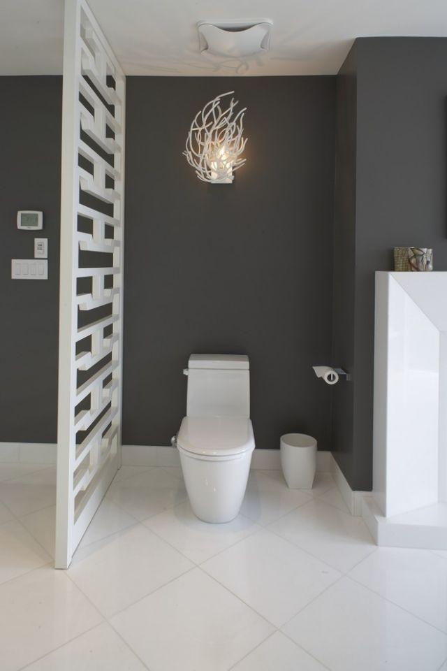 Mobile trennwand badezimmer wei schwarze wandfarbe - Mobiles badezimmer ...