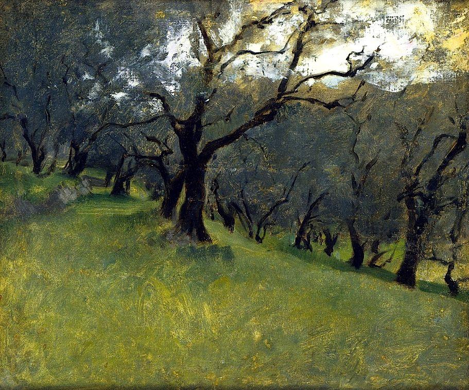 Olive Trees John Singer Sargent Circa 1878 John Singer Sargent Landscape Paintings Singer Sargent