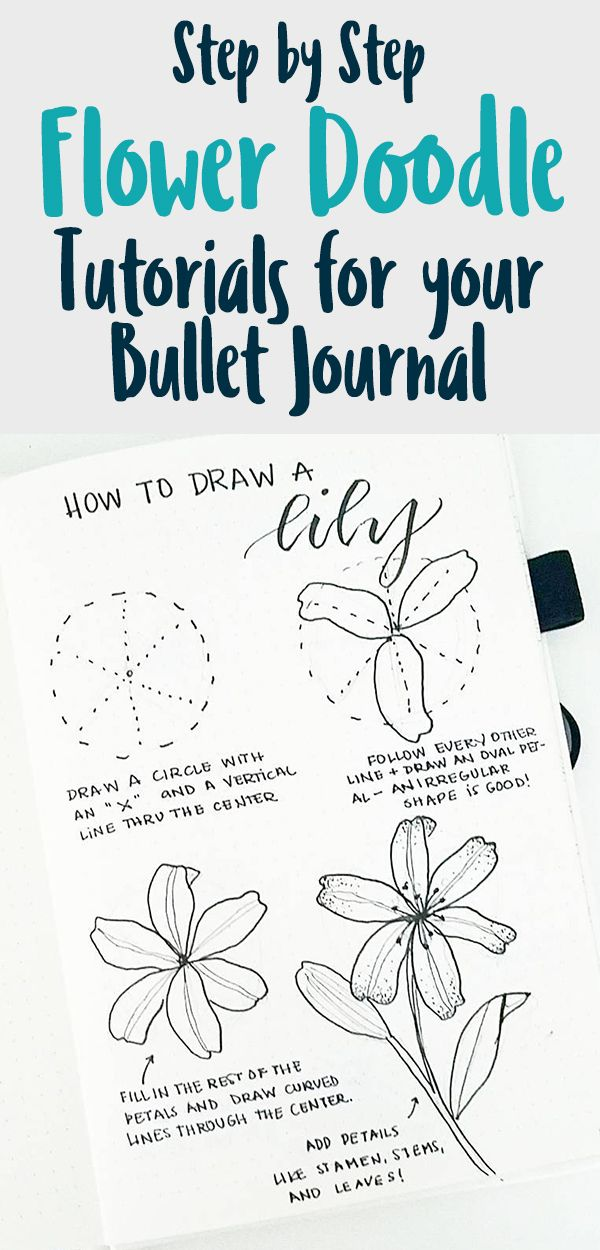 How To Draw Flower Doodles Bullet Journals Should Have These Pretty And Easy Plant Doodles Will Help You Deco Flower Doodles Plant Doodle Easy Flower Drawings