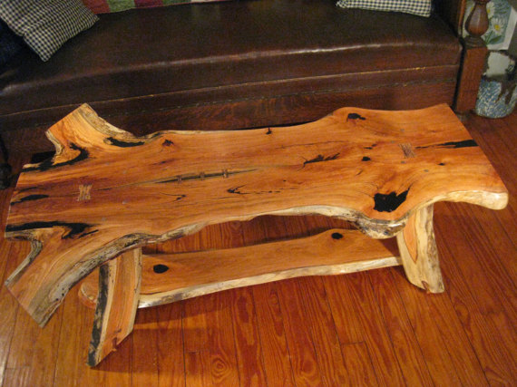 Rustic Book Matched Honey Locust Coffee Table With Copper Etsy In 2020 Rustic Books Honey Locust Live Edge Coffee Table