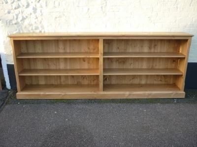 Edmunds Twin Long Low Bookcase Bookcases Pine Oak