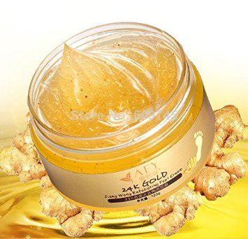 So Beauty : Best SPA Foot Cream Easily solve the problem of foot skin! Natural 24K Gold Scrub Foot Massage Cream feet care hot sale