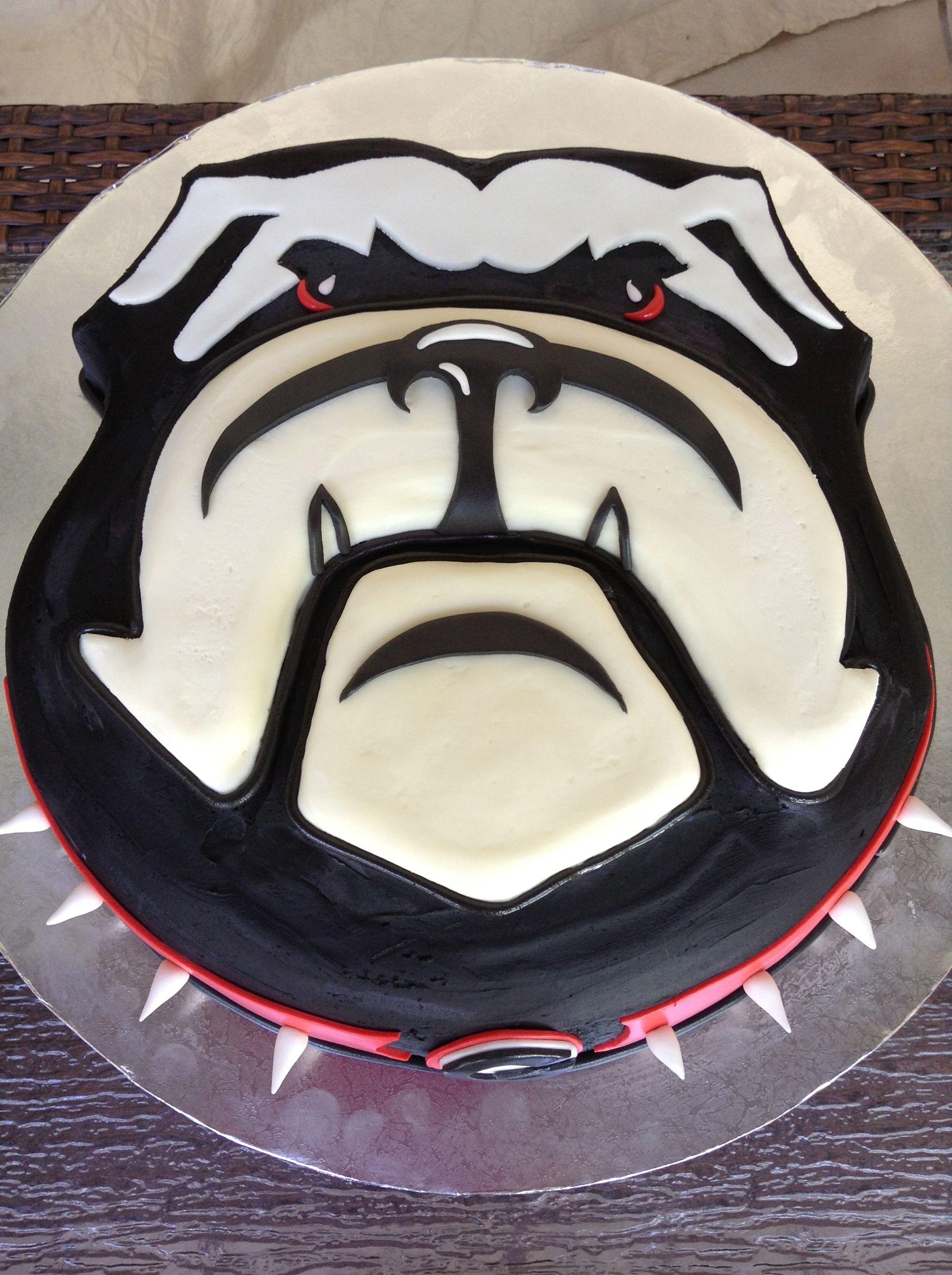 Georgia Bulldog Cake Georgia Bulldogs Cake Grooms Cake