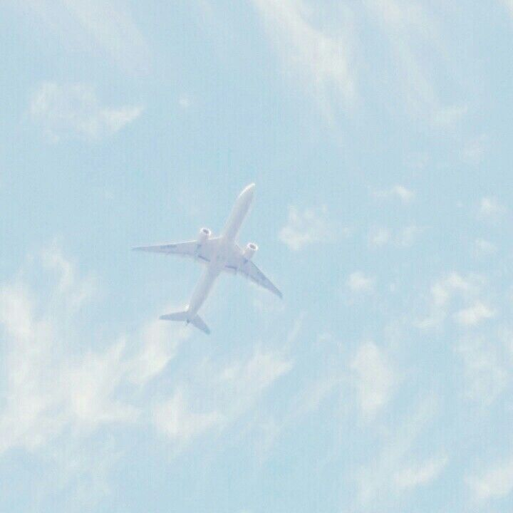 Blue aesthetic tumblr plane ✈