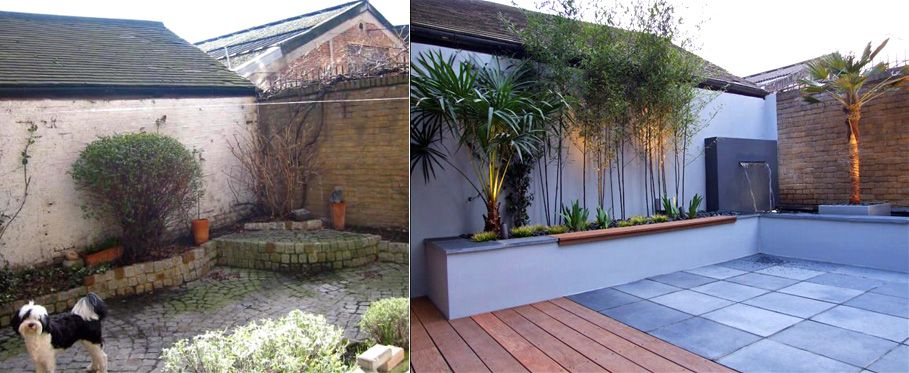 the before and after images of our garden design case studies demonstrate the scope of our modern transformations in this inspiring contemporary showcase - Garden Design Before And After